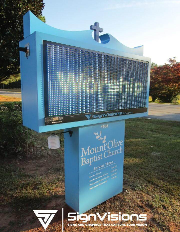 Electronic Message Board Signs in Fayetteville GA