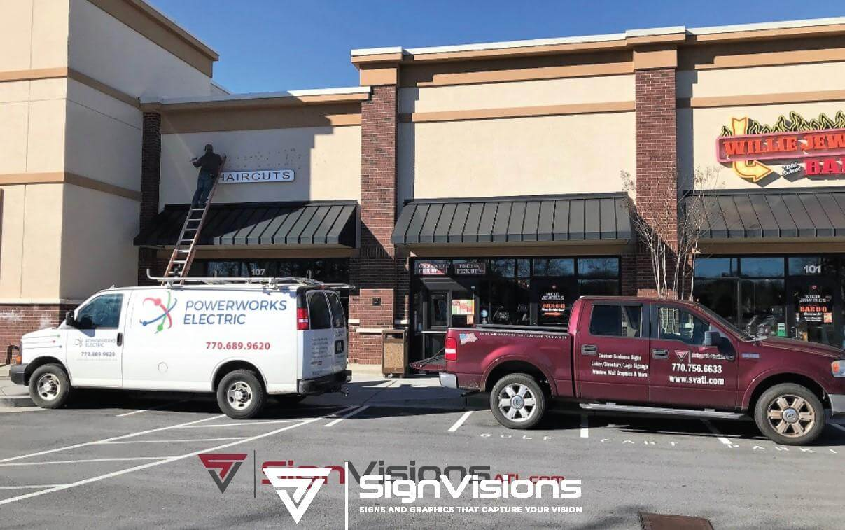 Exterior Sign Removal in Fayetteville GA