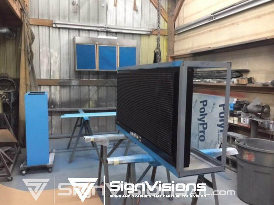Fabricating an Electronic Message Board Sign in Fayetteville GA