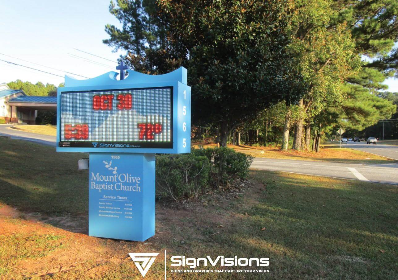 LED Reader Board Signs for Churches in Fayetteville GA