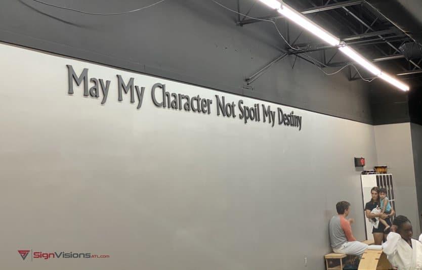 Interior 3D Lettering in Peachtree City GA